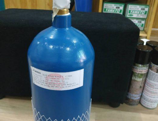 Bình Gas ethylene 99.95%5 lít dùng cho đại trà cho cách khoan lấy mủ cao su