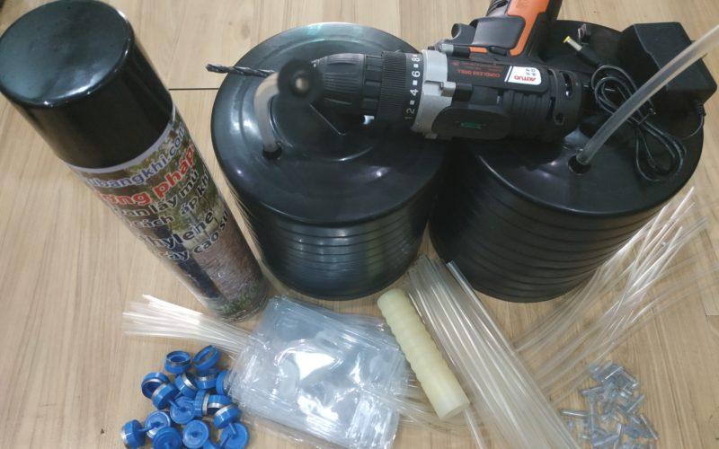 Đơn hàng 20 bộ nắp dày cho phương pháp khoan lấy mủ cao su, ống Thái